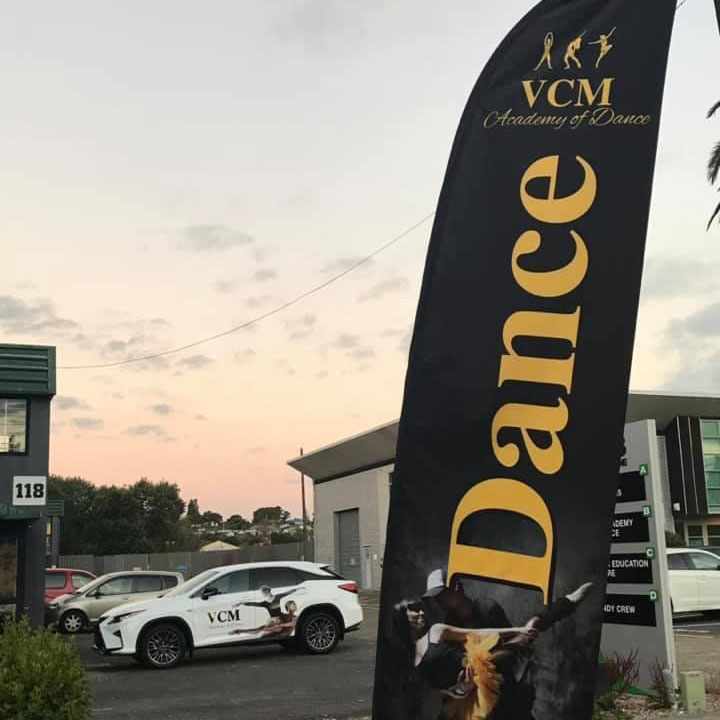 Flag outside leading dance academy in Henderson Auckland
